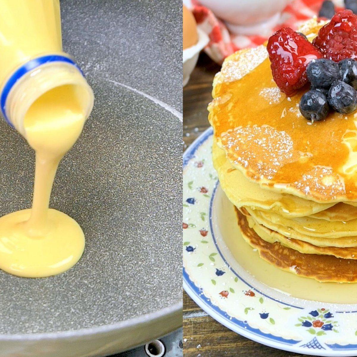 Ricetta Pancake Nella Bottiglia.Come Preparare I Pancakes Con L Aiuto Di Una Bottiglia Di Plastica E Riutilizzarla Prima Di Gettarla Via Ohga