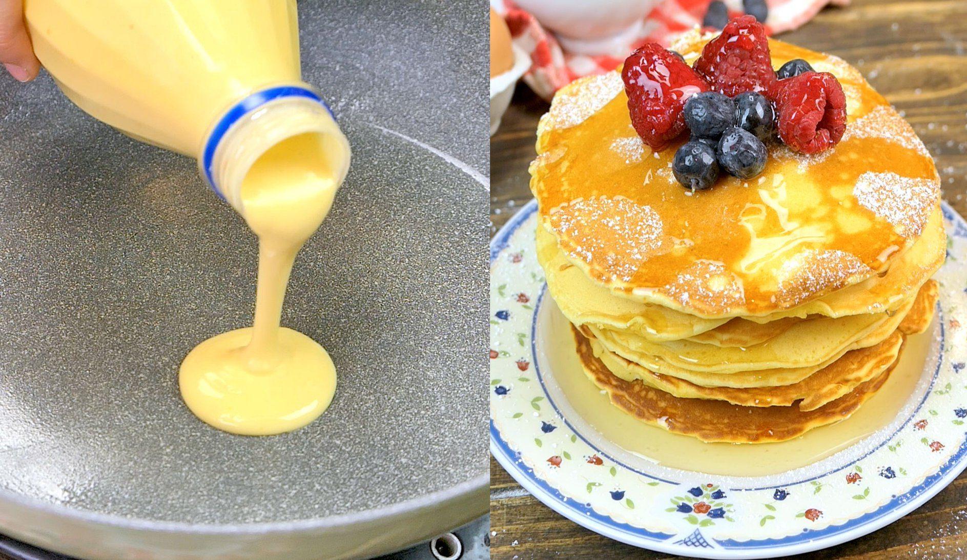 Come Preparare I Pancakes Con L Aiuto Di Una Bottiglia Di Plastica E Riutilizzarla Prima Di Gettarla Via Ohga