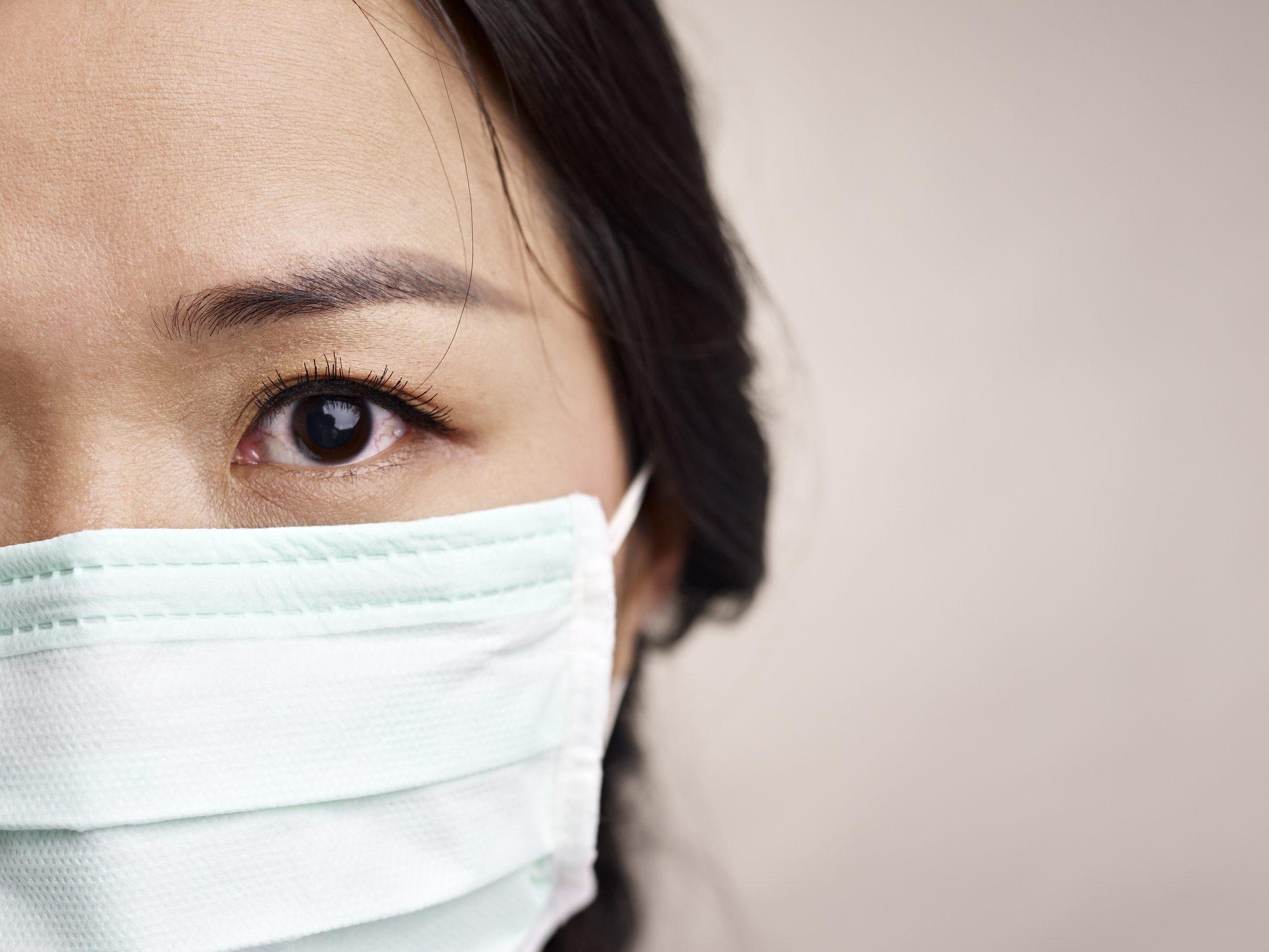 maschera antivirus di stoffa