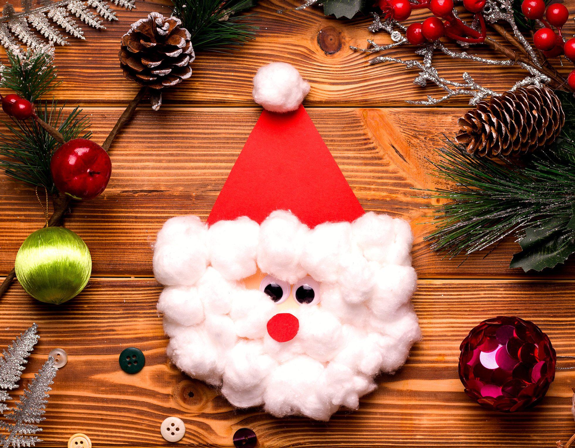 Lavoretti Di Natale Con Babbo Natale.Biglietti Auguri Di Natale Fai Da Te Due Idee Con Babbo Natale Ohga