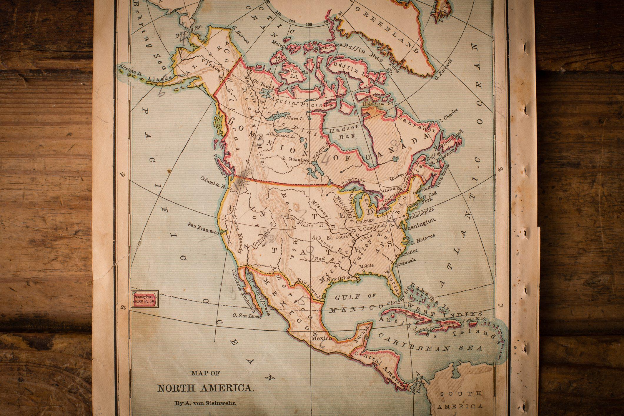 idee riciclo cartone geografice